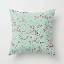 SAKURA  - PRETTY MINT Throw Pillow