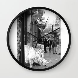 Rhino in Camberwell London Wall Clock