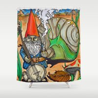 gnome Shower Curtains featuring Gnome by Steven Suiter