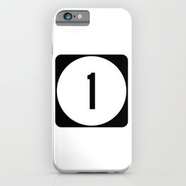 Delaware Route 1 Shield  iPhone Case