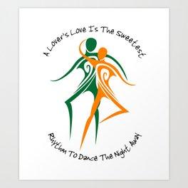 Love's Rhythm Art Print