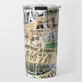 Atlanta map Travel Mug