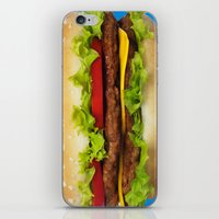 burger iPhone & iPod Skins featuring burger by Shanna Dunn