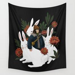 The rabbit garden Wall Tapestry