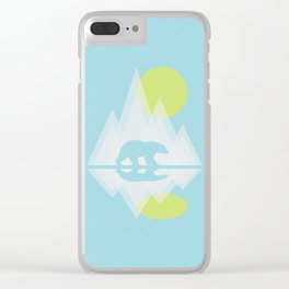 Polar Bear Abstract icecap Landscape Surrealism Art Clear iPhone Case