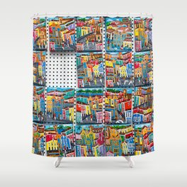 Colorful souvenirs from Bahia, Brazil.   Fine art travel photography print.  Shower Curtain