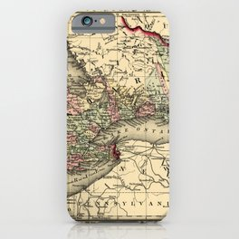 Map Of Ontario 1874 iPhone Case