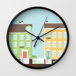 Little Houses Wall Clock