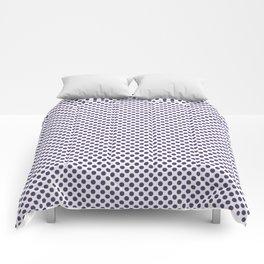 Gentian Violet Polka Dots Comforters