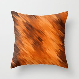 brown orange and dark brown painting texture abstract background Throw Pillow