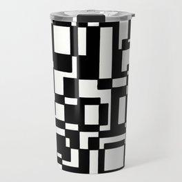 Squares Black´n´White Travel Mug