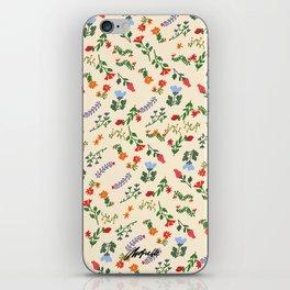 Bright Vintage Flower Pattern iPhone Skin