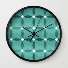 Overlapped Circle Pattern 6 Wall Clock