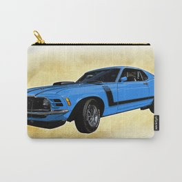 Ford Mustang Boss 302 - Grabber Blue Carry-All Pouch
