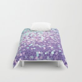 Aqua and Violet Purple Mosaic Comforters
