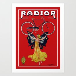 Vintage Radior Bicycle Ad Art Print