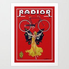 Vintage Radior Bicycle Ad Art Print