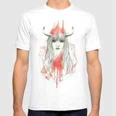 Zodiac - Taurus MEDIUM Mens Fitted Tee White