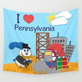 Ernest and Coraline | I love Pennsylvania Wall Tapestry