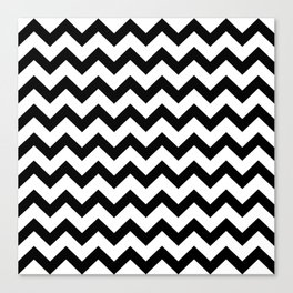 Chevron (Black & White Pattern) Canvas Print