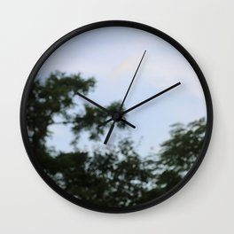 sky plants blur Wall Clock