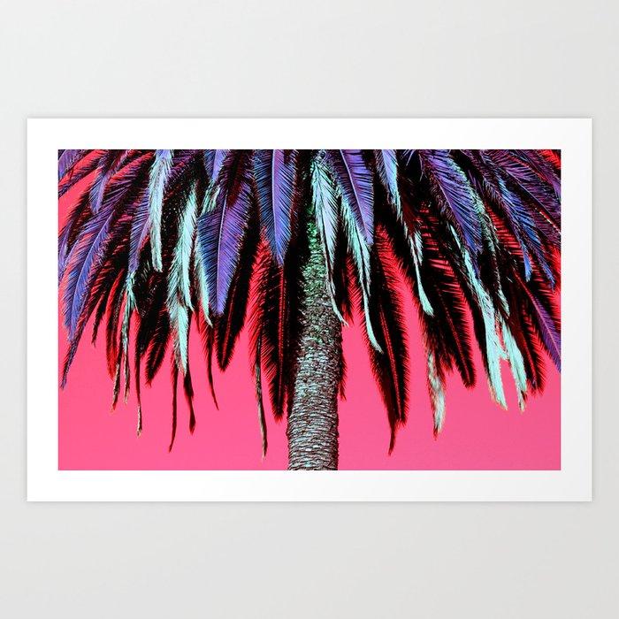 Palm Tree Neon Art Print