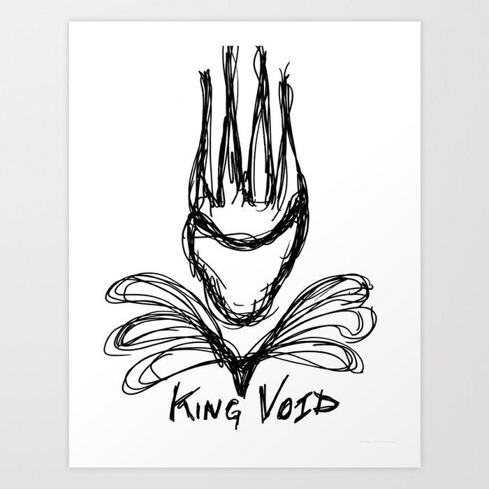 """KING VOID"" Art Print"