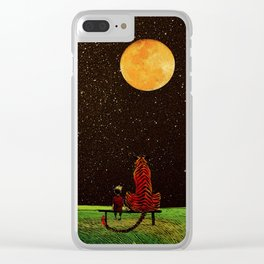 Calvin and Tiger Clear iPhone Case