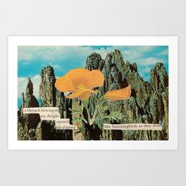Sprung Art Print