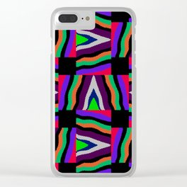 Textured Colorful Stripes Clear iPhone Case