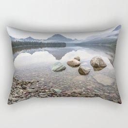 Rocky Lake Mountains Rectangular Pillow