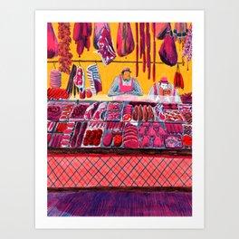 Meat Counter Art Print