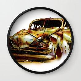 Vintage automobile retro fineart Wall Clock