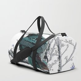 CROW/RAVEN IN WINTER TREE & SNOWFLAKES Duffle Bag