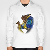 beauty and the beast Hoodies featuring Beauty and the Beast by JackEmmett