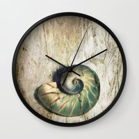 shell Wall Clocks featuring Shell by KunstFabrik_StaticMovement Manu Jobst