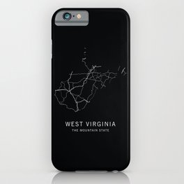 West Virginia State Road Map iPhone Case