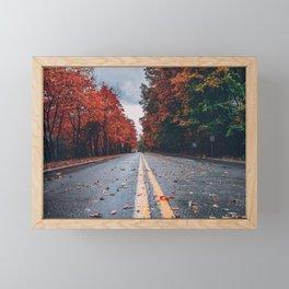 Foliage Drive Framed Mini Art Print