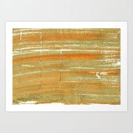 Aztec Gold abstract watercolor Art Print