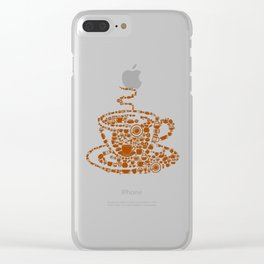 Black Coffee Clear iPhone Case