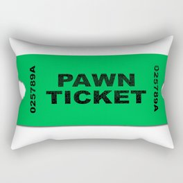 Pawn Ticket Rectangular Pillow