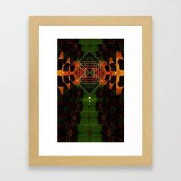 Square Geometry Texture Framed Art Print
