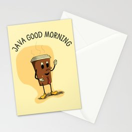 Java Good Morning - Coffee (Earth 1084) Stationery Cards