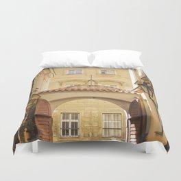Golden Afternoons in Prague Duvet Cover