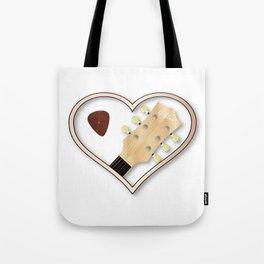 Love Guitar Tote Bag