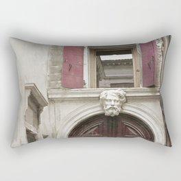 Venetian Door in Eggplant Purple Rectangular Pillow