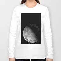 the moon Long Sleeve T-shirts featuring MOON by wowpeer