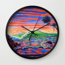Surf Art Psychadelic  Wall Clock