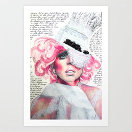 A Paper Mask Art Print