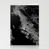 oakland Stationery Cards featuring oakland map california by Line Line Lines